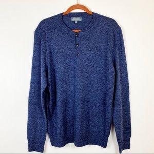 Bonobos Slim Fit  Merino Wool Knit Henley Sweater